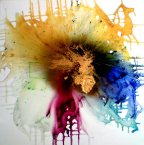Exploding Universe Glass on Canvas by Paul Fullylove